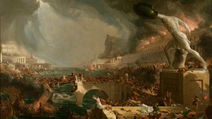 """The Course of the Empire"" (""O Curso do Império""), quadro do britânico Thomas Cole"